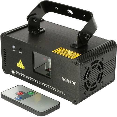 Laser Show Rgb 400mw Dmx Auto Som + Controle Remoto Dj B2000