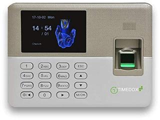 Timedox Plata   Reloj Biometrico De Huellas Dactilares   Req