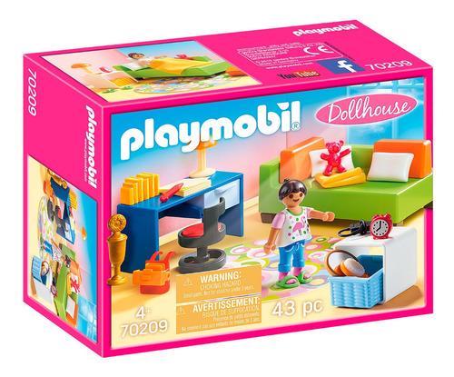 Dormitorio De Niños Playmobil 70209 Niña Muebles Y Acc Full