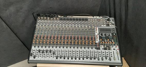Mesa De Som Behringer Xenyx Sx2442 Mixer 24 Canais Usada