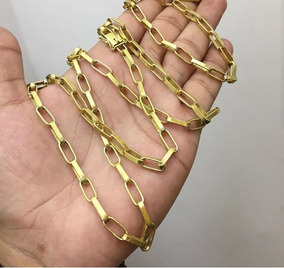 Corrente Banhada A Ouro 18k Acompanha Um Estojo Gratis