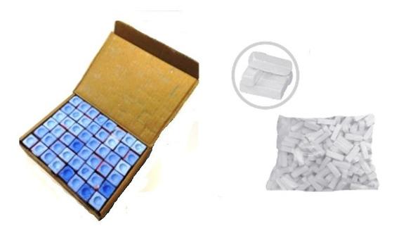 48 Giz Azul 01 Kg Giz Branco Taco Bilhar Sinuca Snooker