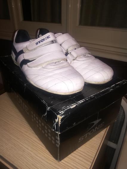 Imperdible!!! Zapatillas De Cuero Marca Stone, Como Nuevas!!