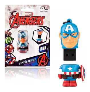 Pendrive Avengers Marvel Vingadores - Capitao America 8gb