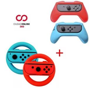 Accesorios X4 Nintendo Switch Grip De Juego Para Joy Con