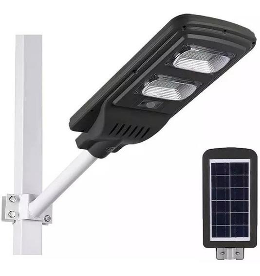 Luminária Publica Poste Energia Solar 60w Sensor E Controle