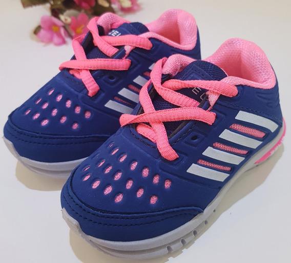 Tênis Infantil Azul Com Rosa