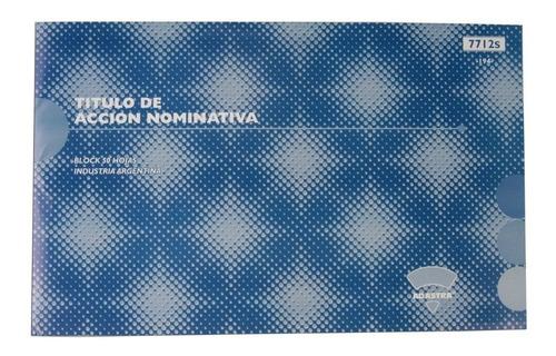 Ad Astra Titulo Accion Nominativa No Endosable 7712s