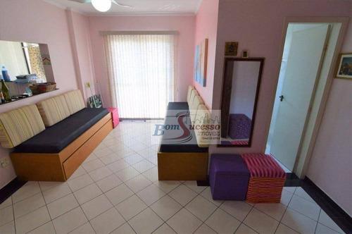 Imagem 1 de 14 de Apartamento Com 2 Dormitórios À Venda, 65 M² Por R$ 300.000,00 - Astúrias - Guarujá/sp - Ap1553