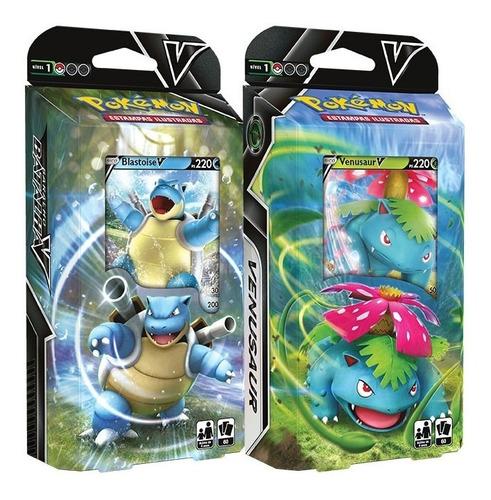 Pokémon Deck Baralhos Batalha V - Venusaur V E Blastoise V