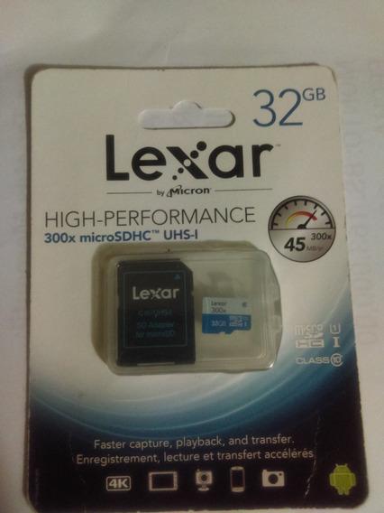 Memoria Micro Sd Lexar 32gb- 300x High Performance Clase 10