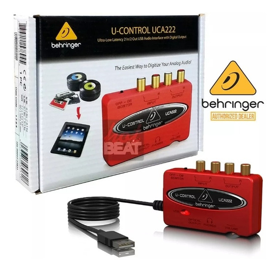 Interface Behringer Uca222 U-control