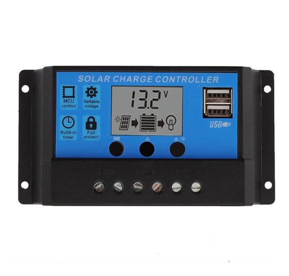 Controlador De Carga Solar Pwm 10a