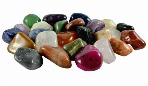 Coleção 25 Pedras Preciosas Brasileiras Lapidada Rolada 2cm
