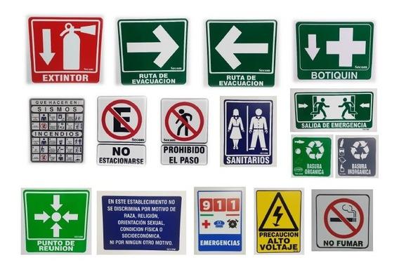 Kit - Paquete De Señalamientos De Protección Civil - Extras