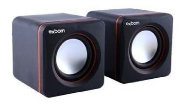 Caixa Som Mini ( 5w) (preto/laranja) (usb)(exbom)(cs-39)