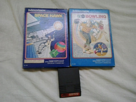 Space Hawk Bowling Armor Battle Jogo Mattel Intellivision