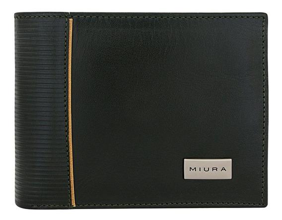 Billetera Miura Hombre Mod. Ciro Cuero Natural Diseño Unico
