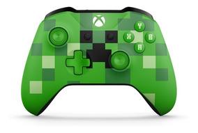 Controle Xbox One S Bluetooth Minecraft Creeper Microsoft
