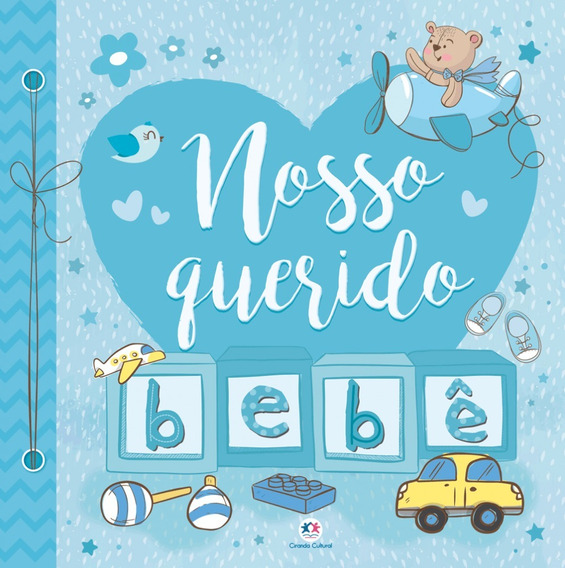 Livro Álbum De Recordações Nosso Querido Bebê Azul Meninos