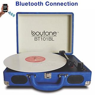 Boytone Bt-101bl Bluetooth Tocadiscos Maletín Reproductor De