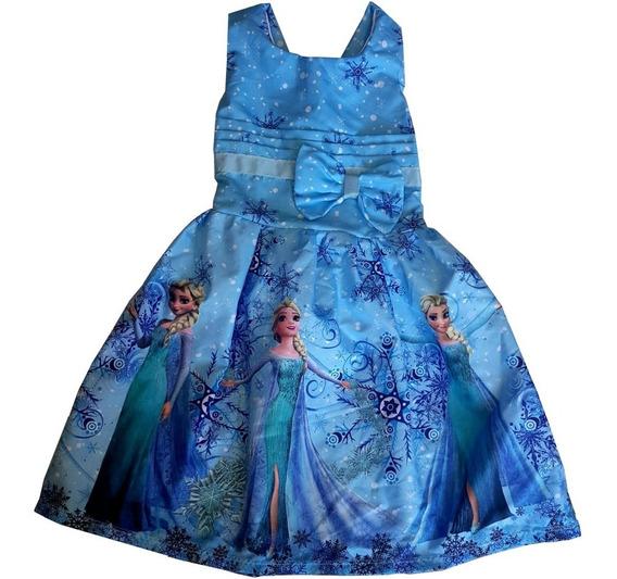Kit 10 Vestidos Infantis Personagens - Atacado
