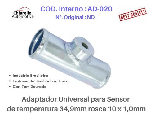 Adaptador Universal Sensor Temp. 34,9mm Rosca 10 X 1,0mm