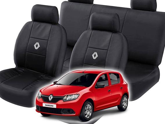 Capa Banco Carro Couro P/ Renault Sandero 2017 18 19