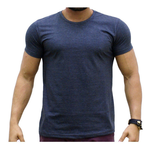 Camiseta Básica Lisa Gola Redonda Pv Algodão - Camisetas Sa