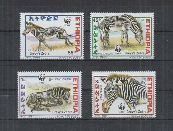 2001 Wwf- Fauna- Cebra- Etiopia
