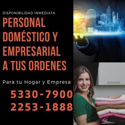Personal Doméstico Y Empresarial Con Disponibilidad Inmediat