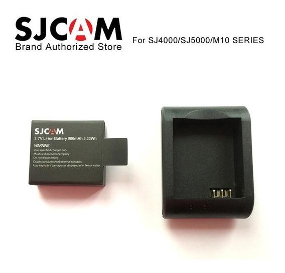 Bateria Sjcam 2 + 1 Carregador Sjcam Câmera 4k Action Sj400 Sport