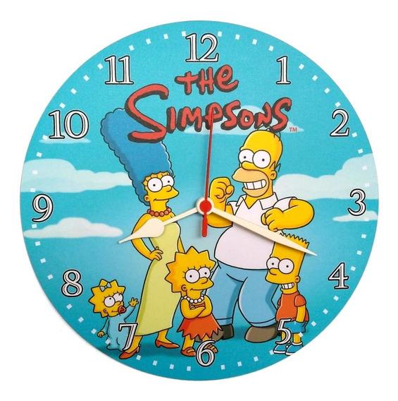 Relógio Parede Simpsons Homer Animado Decoração Duff 30cm