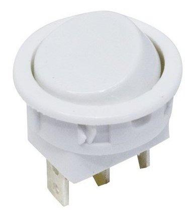 Chave 16101 Interruptor Tecla Unipolar Liga/liga 10a 2 Posições Branca Margirius