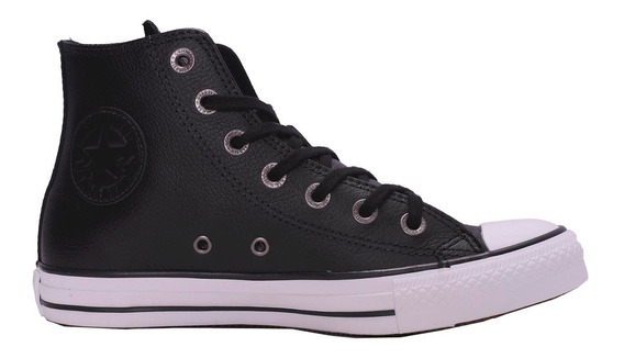 Converse Chuck Taylor Hi Leather Black 157000c