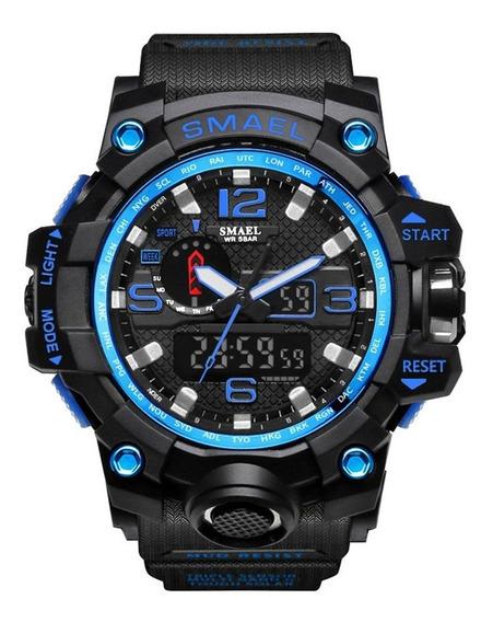 Smael 1545 Relógios Eletrônicos Inteligentes Preto E Azul