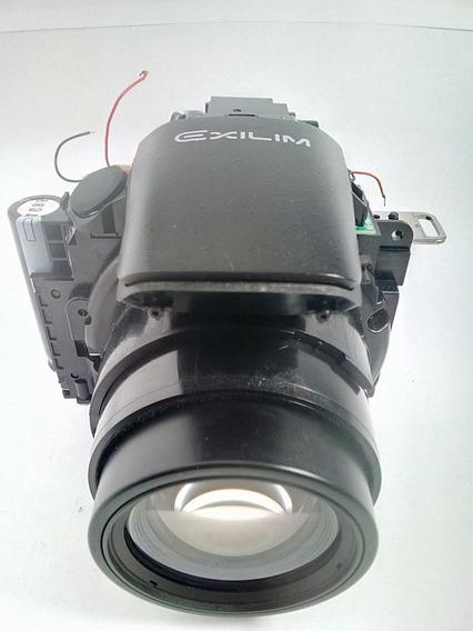 Bloco Óptico Completo Com Mecanismo D Flash Da Casio Ex-fh20