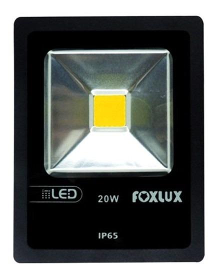 Refletor Led 20w Luz Amarela Bivolt Foxlux