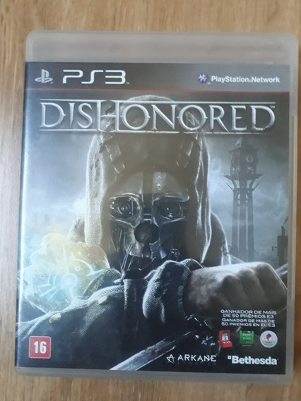 Dishonored Mídia Física Original Ps3 Usado