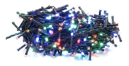 Luz Multicolor 100 Led Eventos Arbolito Navideño Navidad