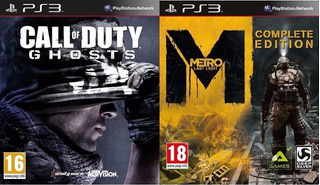 Call Of Duty Ghosts + Metro Last Light Complete Digital Ps3