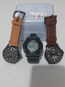 Kit Moderno - 2 Relógios Masculinos + 1 Relógio Digital