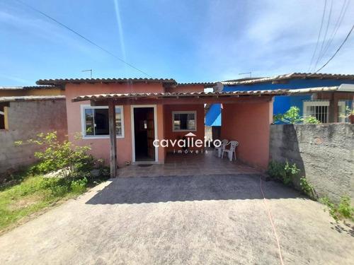 Casa Em São José, Próximo A Rodovia, Com 2 Dormitórios À Venda, 82 M² - São José Do Imbassaí - Maricá/rj - Ca4636