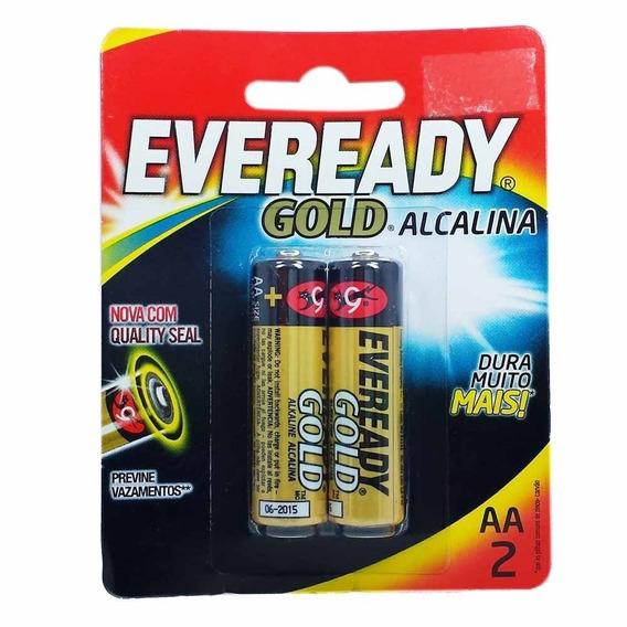 Pilha Eveready Gold Aa2 Alcalina Caixa C/ 24 Pares 48 Pilhas