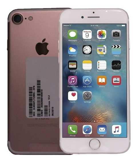 Celular Apple iPhone 7 2gb 128gb -ios 12 Video 4k Rosa