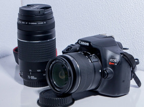 Camera Canon Eos T6 Kit 2 Lentes 18x55mm E 70x300mm