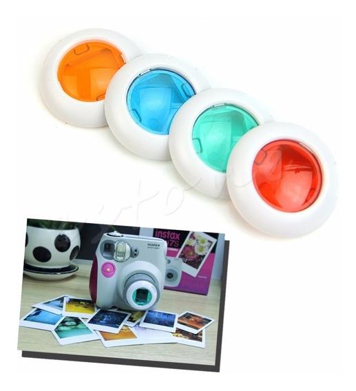 Kit Com 4 Lentes Filtro Colorido Câmera Instax Mini
