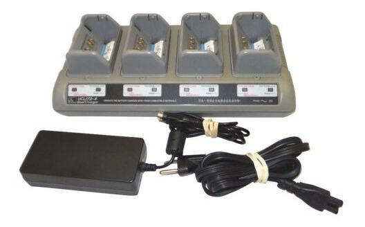Quad Carregador De Bateria Zebra Ucli 72-4 Ql220 320 420 520