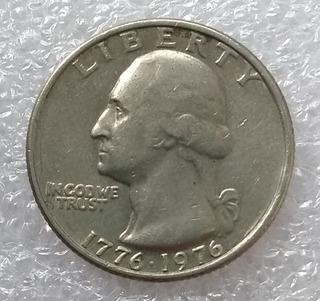 Moneda Estados Unidos Quarter Dollar Washington 1776 1976
