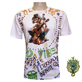 Camiseta Hippie Policromia 100% Viscose